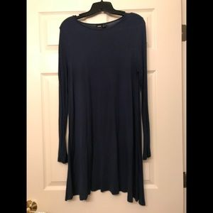 Dresses & Skirts - NAVY LS TRAPEZE DRESS 8
